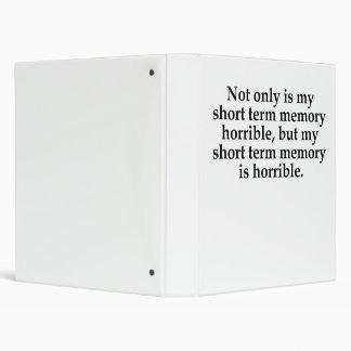 Short Term Memory Binder