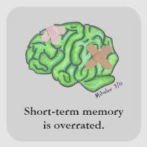 """Short-term memory"" sticker"