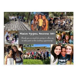 Short term mission trip postcard