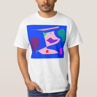 Short Time Holiday Cold Red Leaf Surface T-Shirt