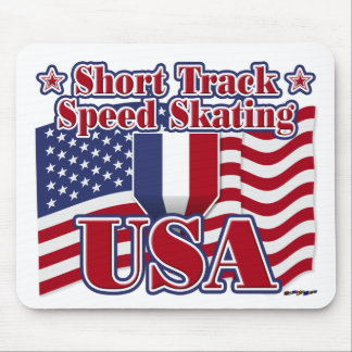 Short Track Speed Skating USA Mouse Pad