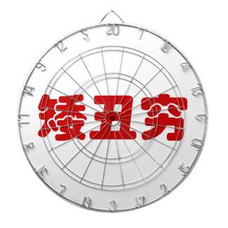 Short, Ugly & Poor 矮丑穷 Chinese Hanzi MEME Dart Board