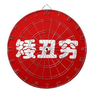 Short, Ugly & Poor 矮丑穷 Chinese Hanzi MEME Dartboard