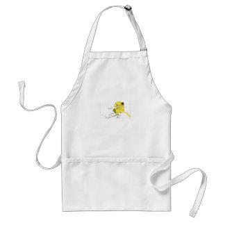 Short white apron