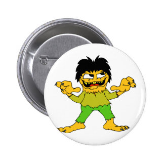 short wolfman halloween graphic buttons