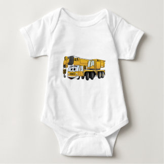 Short Yellow Cartoon Crane Baby Bodysuit