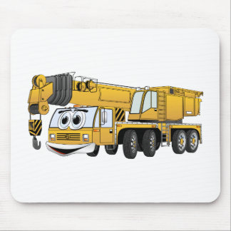 Short Yellow Cartoon Crane Mouse Pad