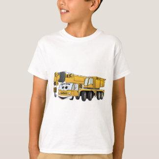 Short Yellow Cartoon Crane T-Shirt