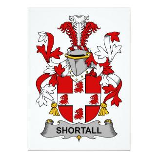 Shortall Family Crest 5x7 Paper Invitation Card