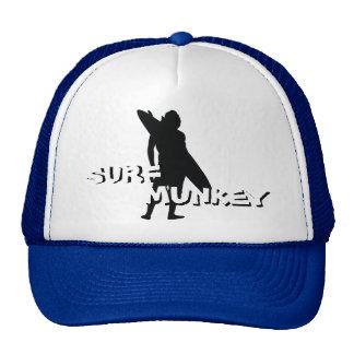 Shortboard Surfer silhouette design on trucker hat