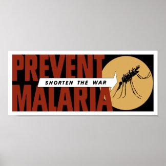 Shorten The War -- Prevent Malaria Poster