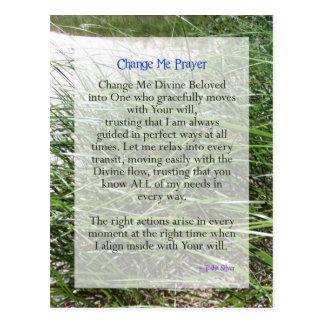 Shortened Change Me Prayer from Tosha Silver Postcards
