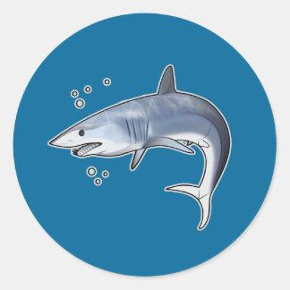 Shortfin Mako Shark Classic Round Sticker