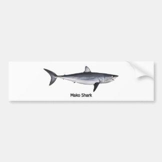 Shortfin Mako Shark Illustration Bumper Stickers
