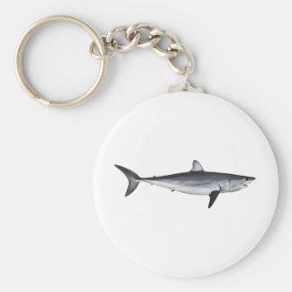 Shortfin Mako Shark Illustration Keychain