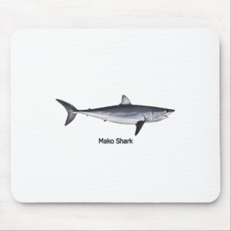 Shortfin Mako Shark Illustration Mouse Pad