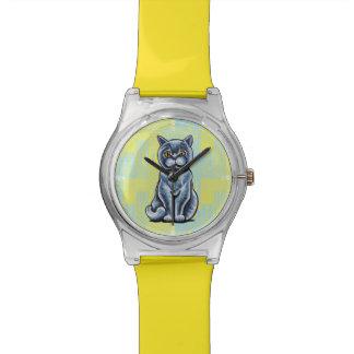 Shorthair británico sienta bonito reloj de mano