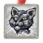 Shorthair Cat Metal Ornament