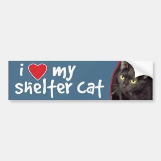 Shorthaired Black Cat Bumper Sticker