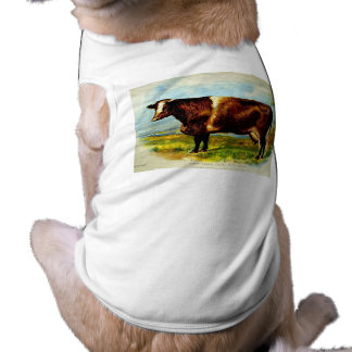 Shorthorn Dairy Cow Lithography 1904 T-Shirt