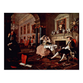 "Shortly After The Wedding "" By Hogarth William Postcard"