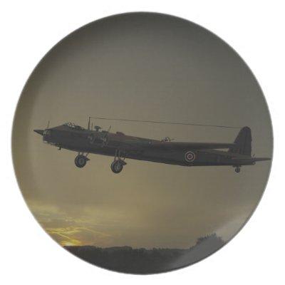 Shorts Stirling Bomber 1941 Dinner Plates by Hanger_19