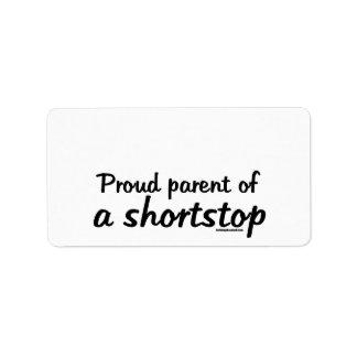 Shortstop Proud Parents Label