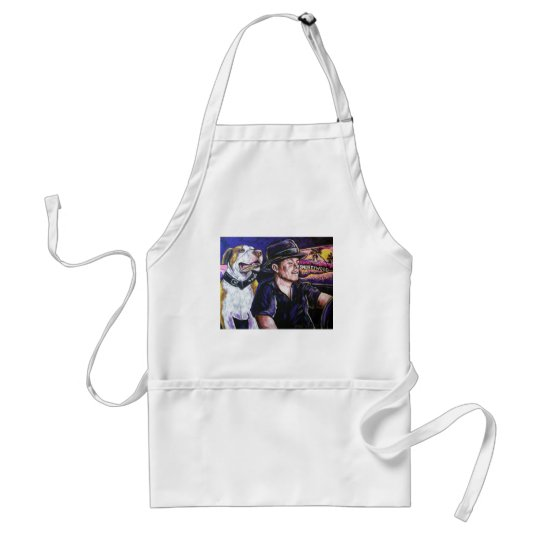 Shorty and Hercules taking a ride Adult Apron