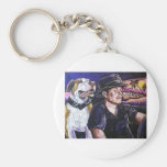 Shorty and Hercules taking a ride Keychain