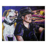 Shorty and Hercules taking a ride Print
