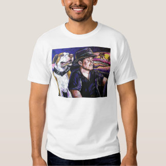 Shorty and Hercules taking a ride T-shirt