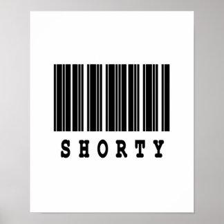 shorty barcode design poster