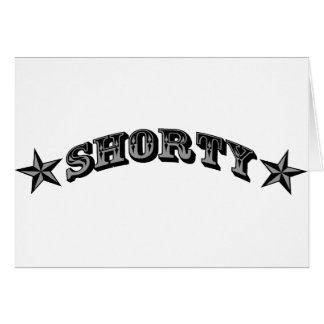shorty greeting card