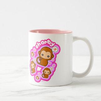 Shorty Monkey Two-Tone Coffee Mug