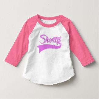 """Shorty"" Pnk & Lavender Toddler 3/4 Sleeve T-Shirt"