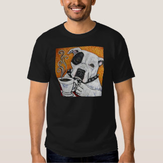 Shorty Rossi's pitbull MUSSOLINI drinking coffee Shirts