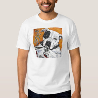 Shorty Rossi's pitbull MUSSOLINI drinking coffee T Shirt