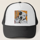 Shorty Rossi's pitbull MUSSOLINI drinking coffee Trucker Hat