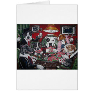 shorty s dogs playing poker greeting card