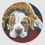 shorty's dog Hercules Classic Round Sticker