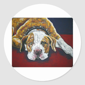 shorty's dog Hercules Round Stickers