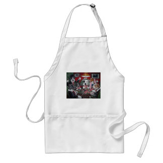 shorty's dogs playing poker adult apron