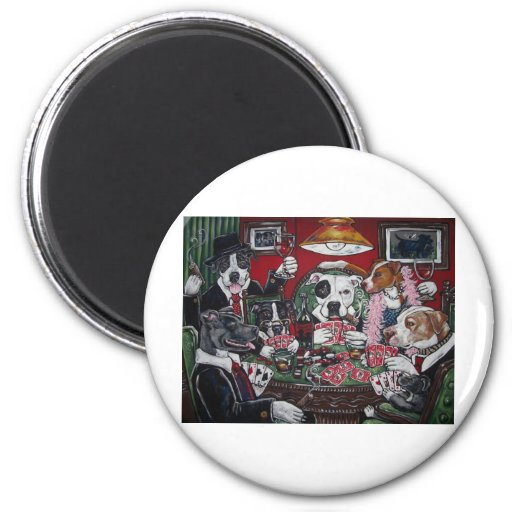 shorty's dogs playing poker refrigerator magnets