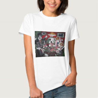 shorty's dogs playing poker tee shirt