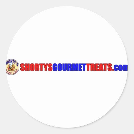 Shorty's Gourmet Treats Classic Round Sticker