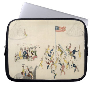 Shoshone dance participated in only by men (pigmen laptop sleeve