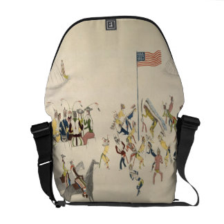 Shoshone dance participated in only by men (pigmen messenger bag