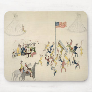 Shoshone dance participated in only by men (pigmen mouse pad