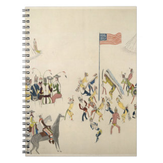 Shoshone dance participated in only by men (pigmen spiral notebook