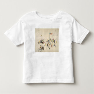 Shoshone dance participated in only by men (pigmen toddler t-shirt